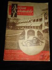 L'Action Automobile et Touristique March 1950 vintage French motoring magazine