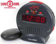 Sonic Bomb JR Extra Loud Amplified Alarm Clock Deep Sleepers Bed Shaker SBJ525SS
