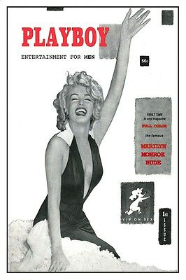 "MARILYN MONROE PLAYBOY COVER 8.5/"" x 11/"""