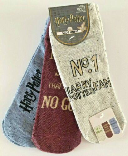3 Paar Harry Potter Damen Sneaker Socken Muggles Fan Strümpfe Pack 37-42 Primark