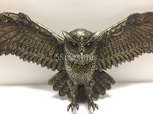 Image Is Loading Flying Steampunk Owl Wall Plaque Home Decor Figure