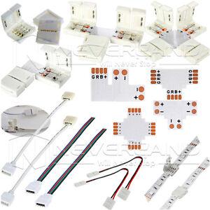 Schnellverbinder-Verbinder-Verteiler-Adapter-fuer-RGB-einfarbig-LED-Strip-Leiste