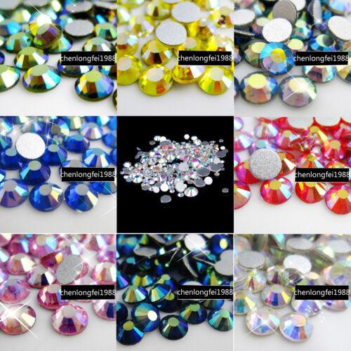 Al por mayor no Hotfix Cristal Flatback 3d diamantes de imitación de Arte en Uñas Puntas Decoración
