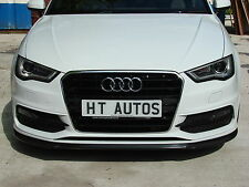 Audi A3 / S3 S-Line 2013-2015 8V front Lip Spoiler Splitter body kit by HT Autos