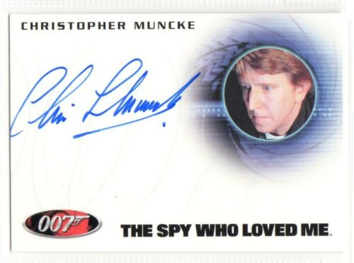James Bond 50th Anniversary Autograph Christopher Muncke//USS Wayne Crewman A201