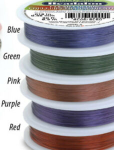 30ft-ROLL-WHOLESALE-BEADALON-BEADING-WIRE-7-STRAND-CLEAR-RED