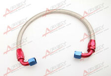 """63/"""" 90°10AN Nylon Braided Racing Performance Oil Fuel Coolant Line Hose Assembly"""