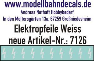 10 Spur 1 weiße Elektropfeile 3,9 x 1,5 mm - Decals TOP 032-7126