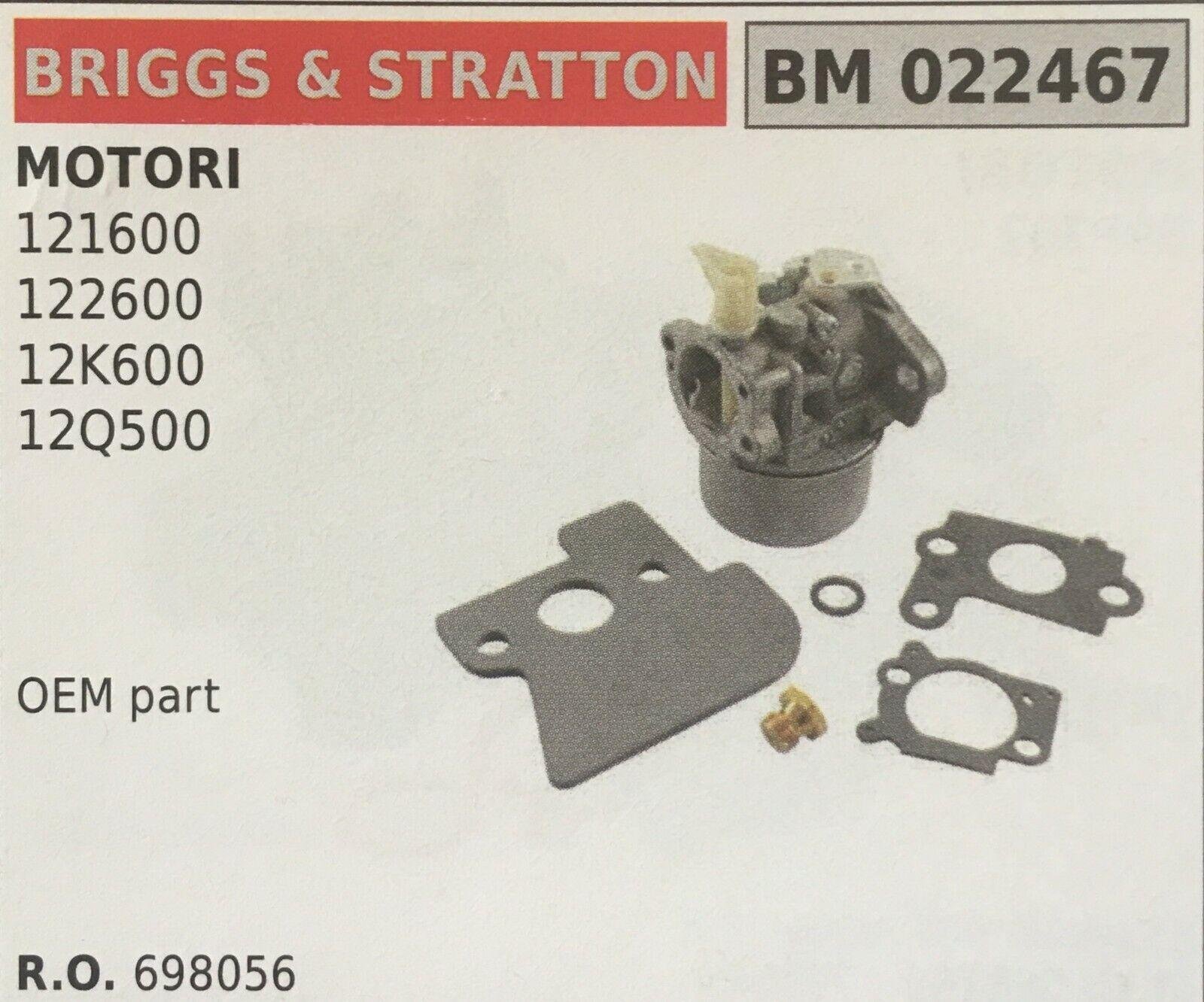 Cocheburador a Tanque Brumar Briggs & Stratton BM022467 Motores 121600 y Otro
