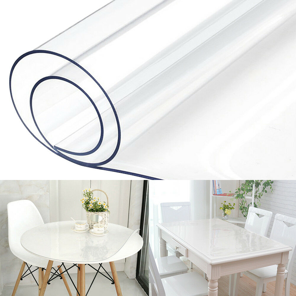Waterproof Clear Plastic Pvc Tablecloth Transpa Protector Dining Table Cover