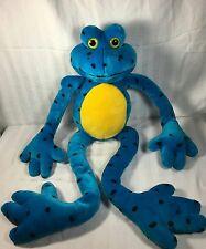 "Fiesta Long Legged Frog Plush 41"" Sticky Feet blue FROG"