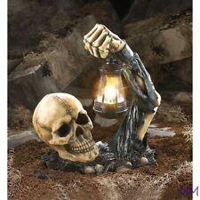 Sinister Skull w/ Lantern Outdoor Garden Halloween Decor
