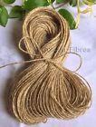 100M Mts Soft Natural Brown Jute Hessian Burlap Rustic Twine Sisal String Cord