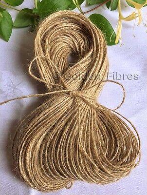 50M Mts Soft Natural Brown Jute Hessian Burlap Rustic Twine Sisal String Cord