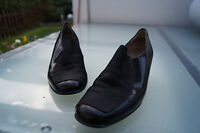 schicke GABOR Fashion Damen Schuhe Pumps Leder Gr.4 / 37 schwarz TOP #3k