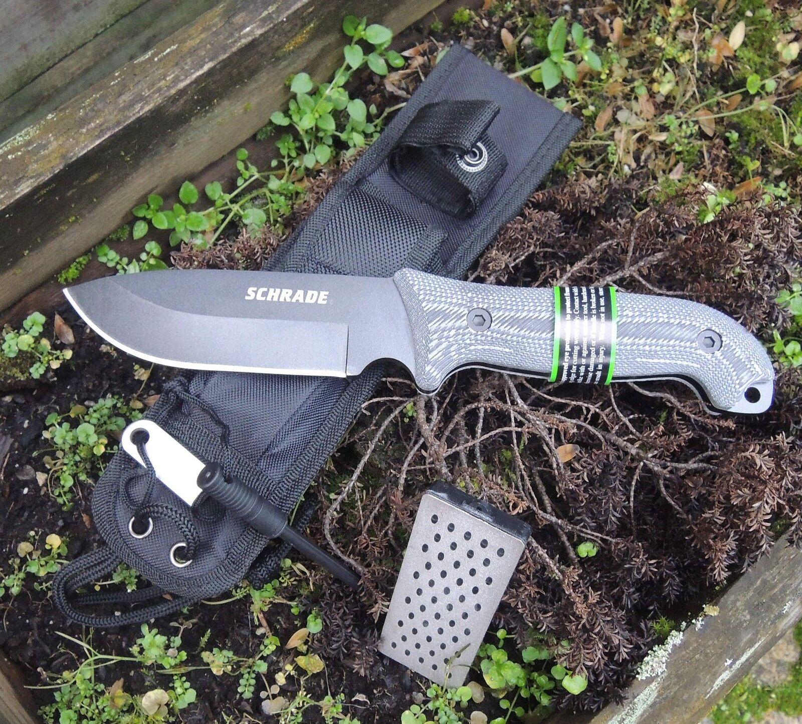 SCHRADE Frontier Frontier Frontier Messer SCHF51M Outdoormesser 1095 Stahl Micartagriff + Scheide 5500bd