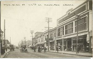 1910-Michigan-Ave-N-112th-St-Roseland-Chicago-IL-Real-Photo-Postcard-RPPC