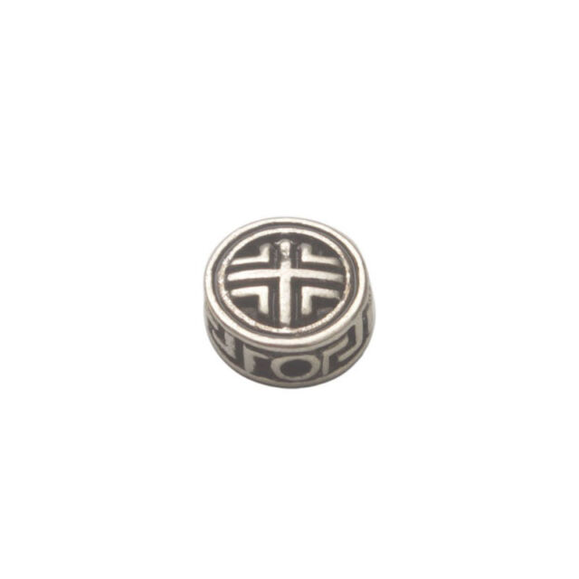 20PCS Antiqued Silver Steering Wheel Design Oblate Beads #93905