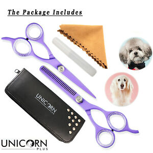 Professional-Pet-Dog-Cat-Hair-Cutting-Thinning-Grooming-Scissors-Shears-Unicorn