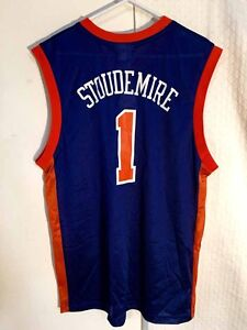 196b9161b60 Adidas NBA Jersey New York Knicks Amare Stoudemire Blue Throwback sz ...