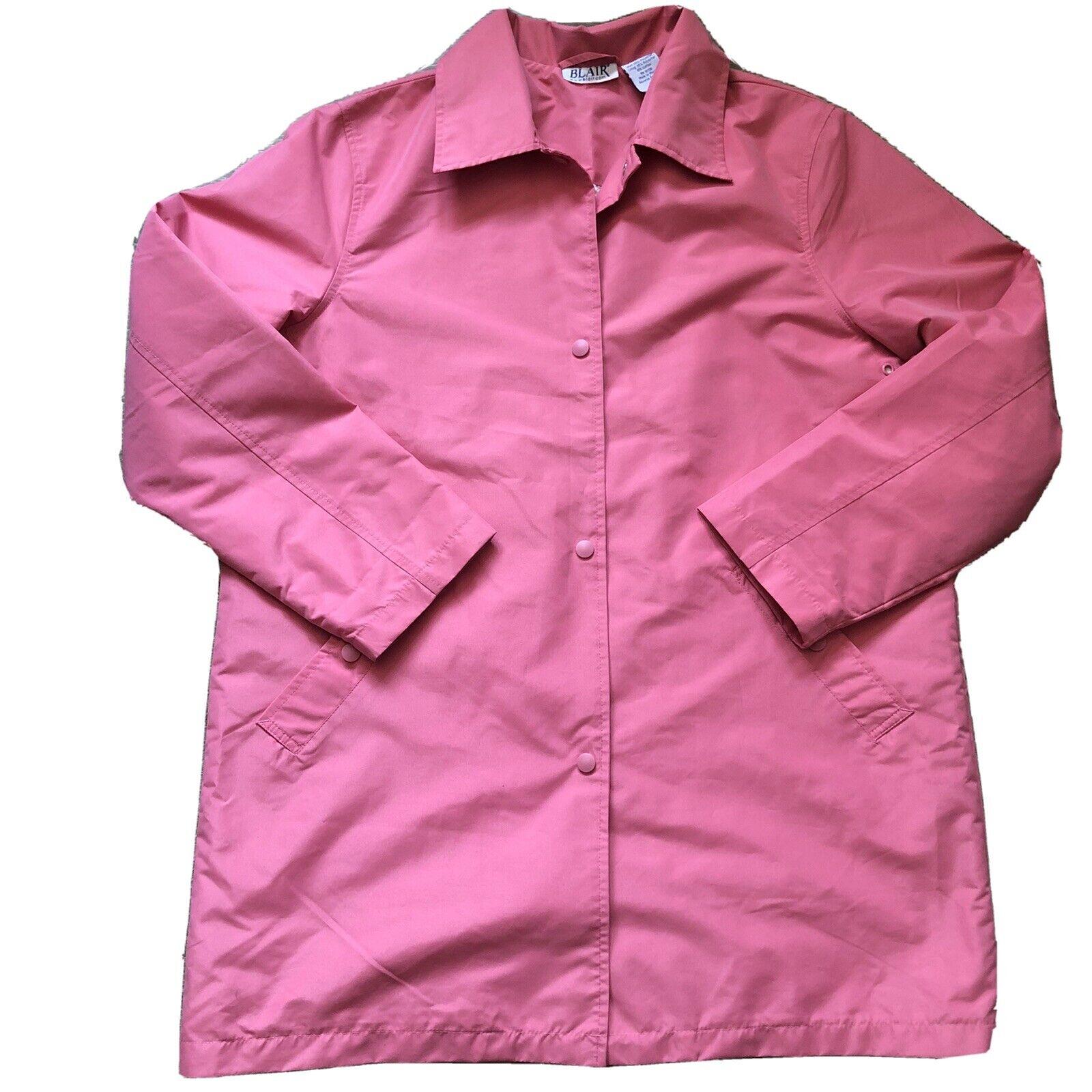 Blair Pink Water Resistant Poplin Spring Jacket Trench Raincoat Floral Lining
