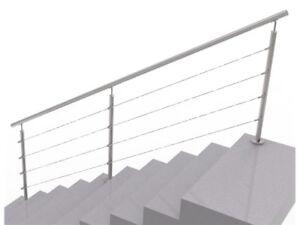 Verschiedene L/ängen mit Wandhaltern V2A Edelstahl Gel/änder f/ür Innen und Au/ßen Handlauf 150 cm /Ø 38 mm