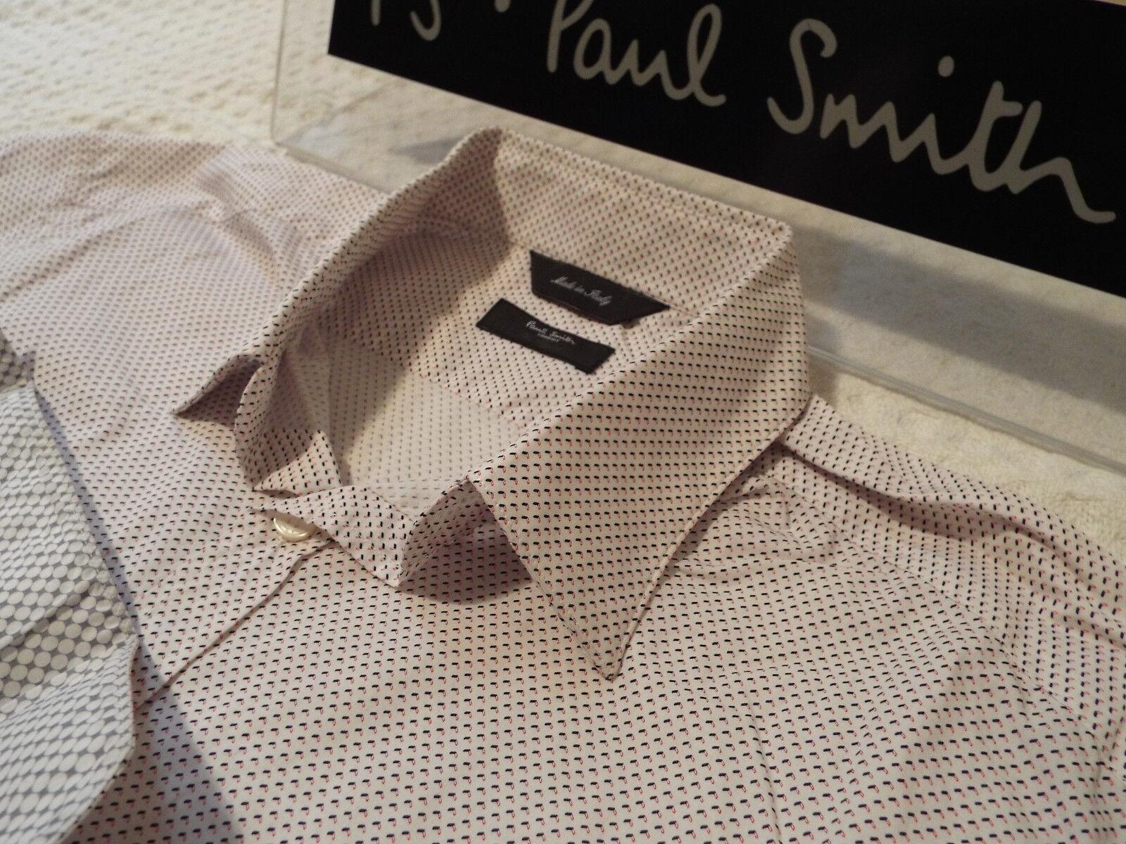 Paul Smith Da Uomo Camicia  (Taglia 16  circonferenza petto 42 )  RRP +  insolito caratteri piccoli