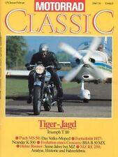 MC9101 + TRIUMPH T 110 + PUCH MS 50 + NEANDER K 500 + MOTORRAD CLASSIC 1 1991