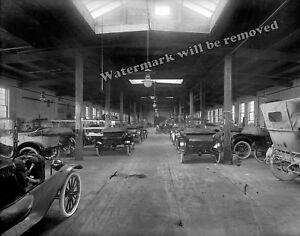 Photograph of the Hackett Auto Repair Shop in Jackson Michigan Year 1916  11x14