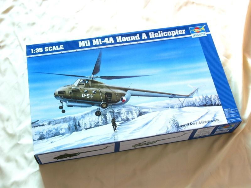 05101 Trompetenplane Model DIY 1  35 MII Mi -4A Hund A Helikopter Single Rotor