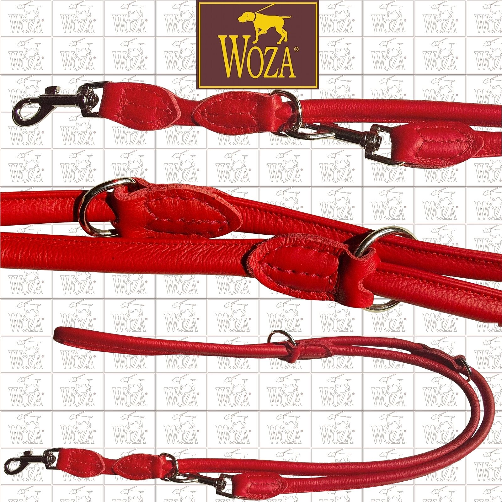 WOZA Premium Hundeleine Rundgenäht Volllederleine Handgenäht Softrindnappa P1046  | Einfach zu spielen, freies Leben