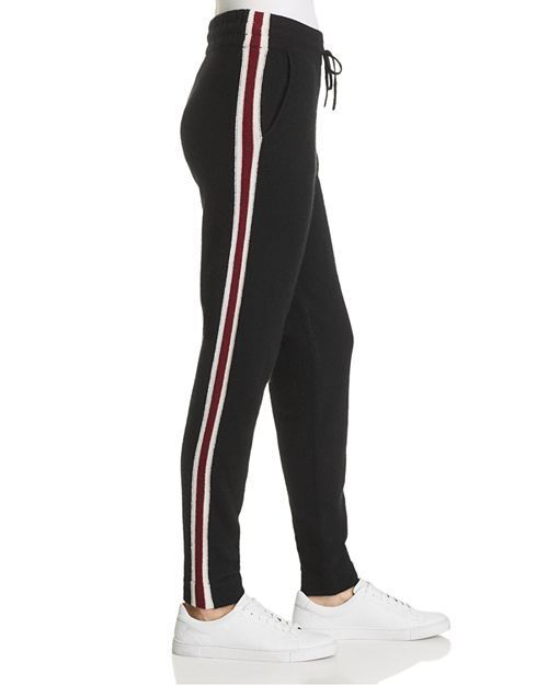 NEW C by Bloomingdale's Varsity Striped Cashmere Jogger Pants Size  XL