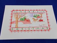 American Greetings Usa Lot Of 10 Christmas Cards Merry Village Scene Horse