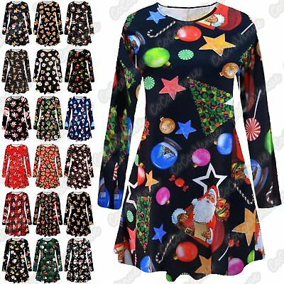 Konstruktiv New Ladies Kids Girls Snowman Christmas Print Skater Flared Mini Swing Dress Top Elegant Und Anmutig