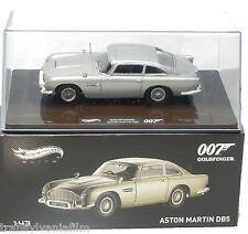 "ASTON MARTIN DB5 ELITE JAMES BOND ""GOLDFINGER"" MOVIE 1964 1/43 HOTWHEELS BLY26"