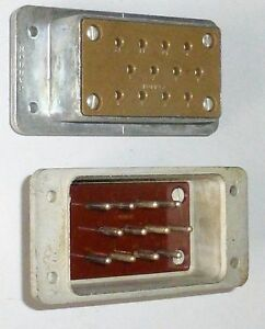 Paire-connecteur-CANNON-M-F-12-contacts-pour-mounting-amp-radio-emboitable-US-WWII