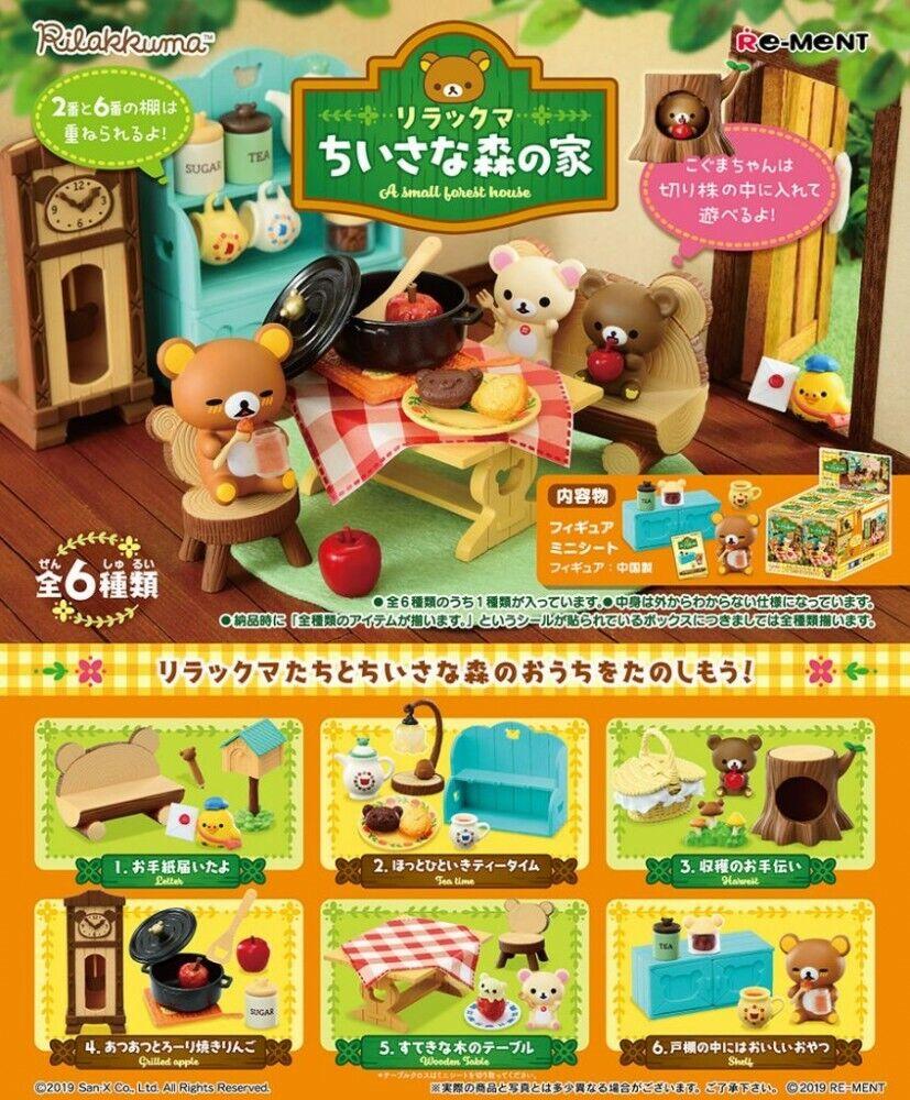 Rilakkuma Flower Tea Cup BOX Item 1 BOX = 6pieces all 6 types JAPAN F//S RE-MENT