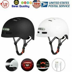 Adult Safety Bicycle Bike Helmet LED USB Light Rechargeable for Road Cycling US
