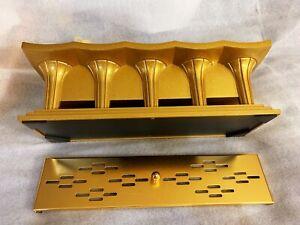 RARE-JAPANESE-BUDDHIST-GOLD-XL-INCENSE-BURNER-CENSER-SHOHONDO-BUTSUDAN-SGI-ALTAR
