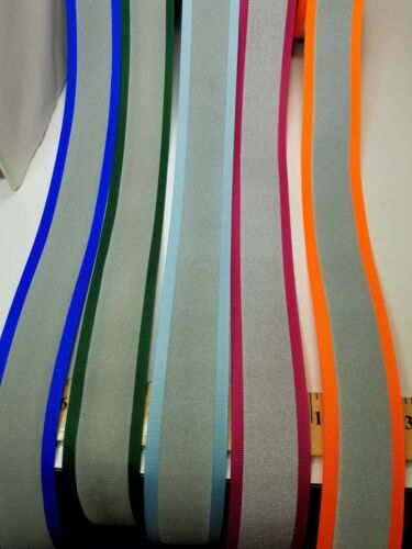 Reflective Tape sew on grosgrain heavy ribbon 1 1//2 in wide sold by the yard
