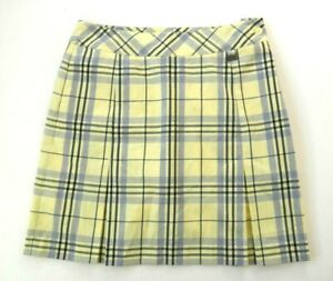 EP-Pro-Womens-Yellow-Gray-Black-Plaid-Golf-Skort-Skirt-Size-4