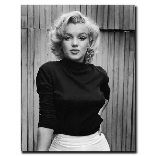 Marilyn Monroe 12x16//24x32inch Black /& White Silk Poster Hot Art Print