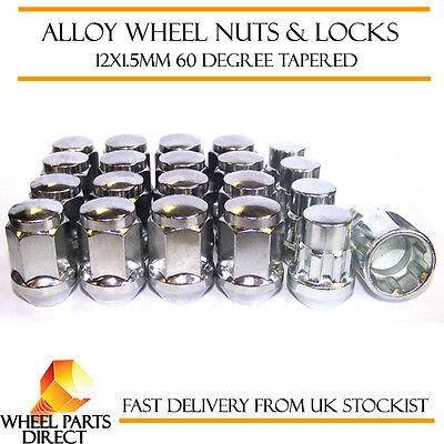 06-11 12x1.5 Bolts for Honda Civic Mk8 Black Wheel Nuts /& Locks 16+4