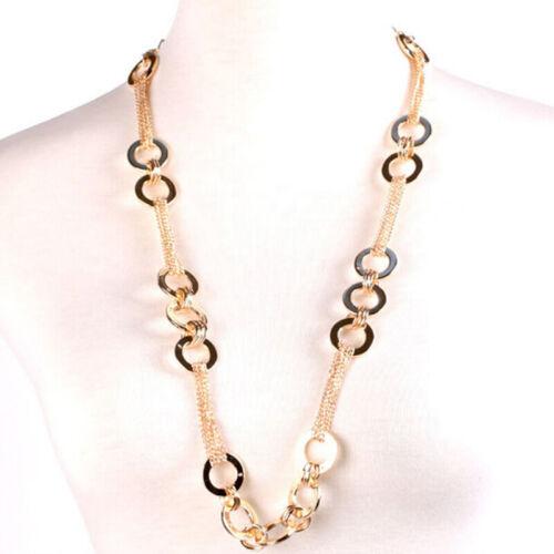 Para Mujeres Cintura Cadena de Cristal de Metal Oro Estrás Hebilla de Cinturón Cuerpo Cadena BL