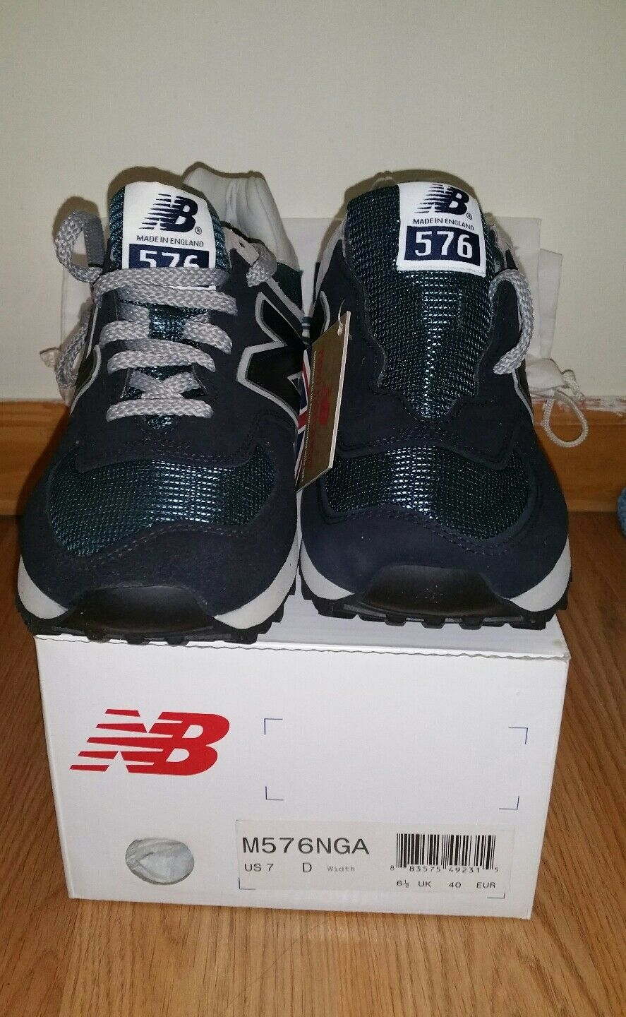 New Balance M 576 NGA 25th Anniversary -Navy~SIZE US 7D Width~MADE IN ENGLAND