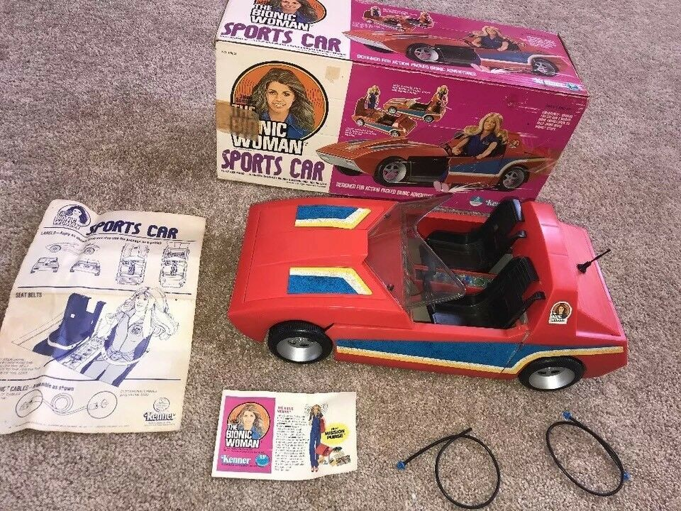 VINTAGE 1977 KENNER BIONIC Damenschuhe JAMIE SOMMERS SOMMERS SOMMERS SPORTS CAR DOLL PLAYSET 65830 0fe90c
