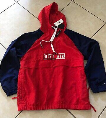 MEN'S NIKE AIR WOVEN ANORAK JACKET Red Blue Men'S L BV5163 657   eBay