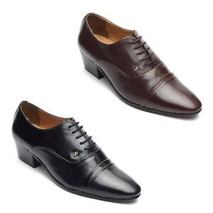 calidad primero diversificado en envases ventas al por mayor Detalles de Para hombres Cuero Con Cordones Zapatos Tacón Cubano señaló  Formal Boda- ver título original