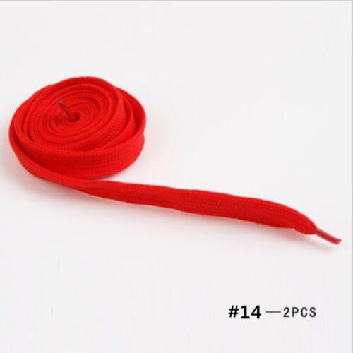 2pcs 30 Colors Athletic Sport Sneaker Flat Bootlaces Shoelaces Strings Laces Spo