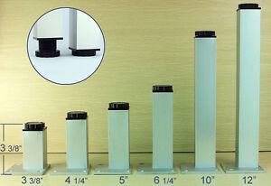 Image is loading metal-legs-hight-adjustable -square-aluminum-furniture-table-